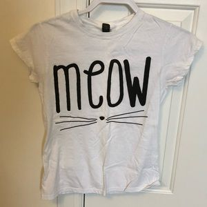 White Meow shirt